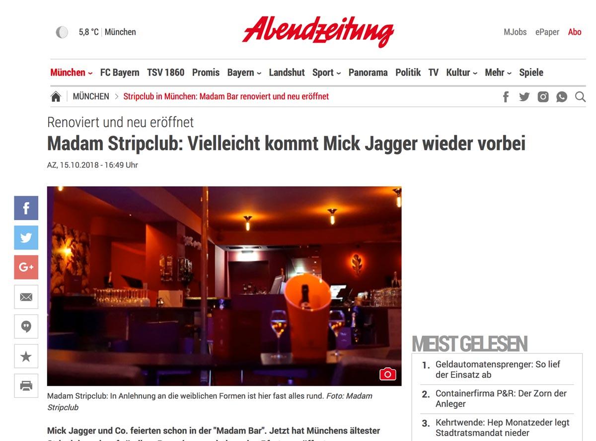 Abendzeitung München - Madam Stripclub & Tabledance