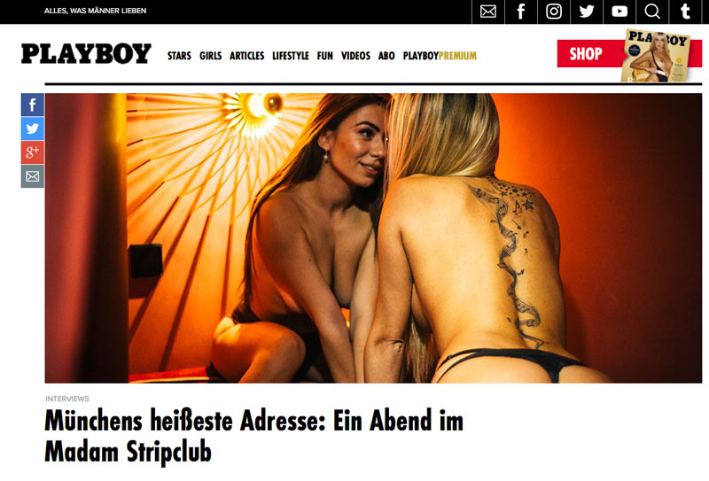 Playboy Artikel – Münchens heißeste Tabledance Bar